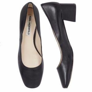 New Karl Lagerfeld Paris Charee Black Pump Heel